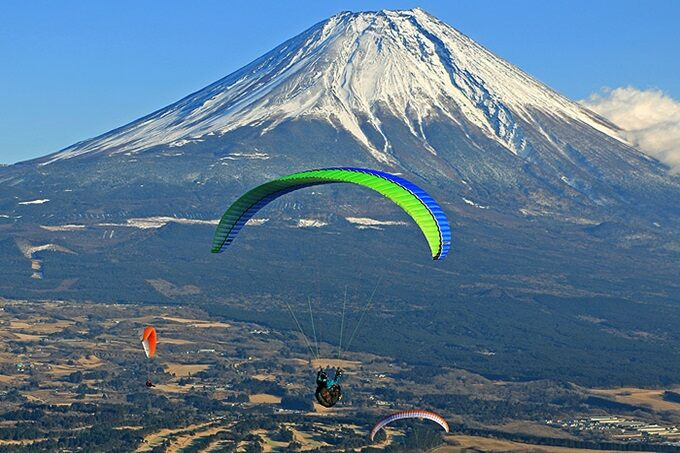Mt  Fuji Paragliding Experience with Express Bus Transfer